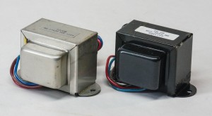 TO20B and TO20 output transformers. The TO20B is bifilar wound, the TO20 is layered.